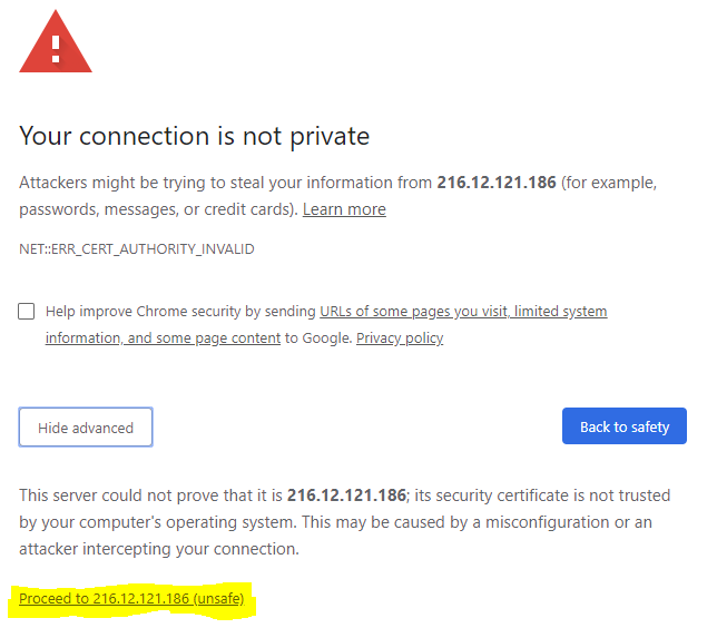 chrome certificate example