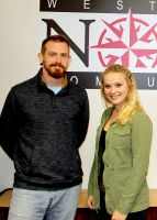 "Caption (L to R): West Virginia Northern Radiography Students Matthew Genberg and Mackenzie Hartman, both of Wheeling, won awards at the 65th annual West Virginia Society of Radiologic Conference. Genberg won First Place for his research paper titled ""Diagnostic Hyperspectral X-Ray Image"" and Hartman was awarded Third Place for her paper entitled ""The effects of Uranium Mining and the Navajo people."""