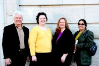 "Faculty at West Virginia Northern Community College who are engaged with their counterparts at DAV College in Chandigarh, India, are, from left, Don Poffenberger, professor of criminal justice; Crystal Harbert, instructor of English; Delilah Ryan, associate professor of history; and Dr. Purnima V. ""Pam"" Sharma, professor of physics/mathematics. Sharma initiated the ""Student Enrichment through Global Collaboration"" project for the current academic semester."